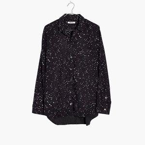 Madewell Oversized Ex-Boyfriend Shirt Star Print